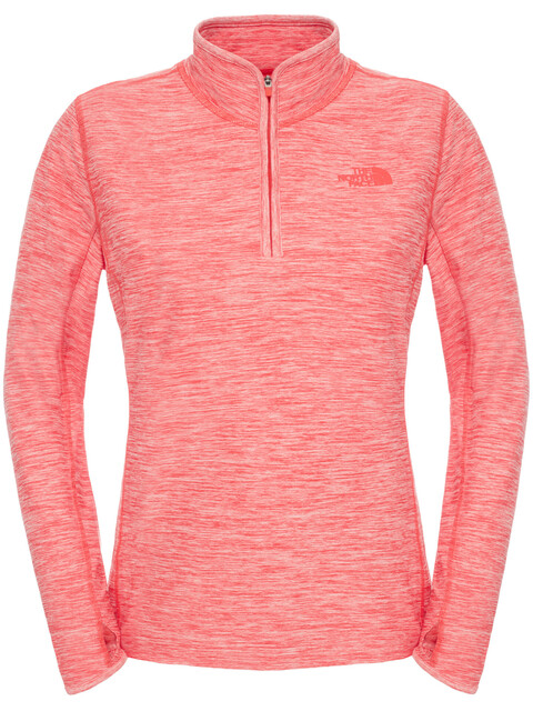 The North Face W's Motivation 1/4 Zip Melon Red Hthr